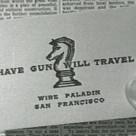 Have Gun; Will Travel